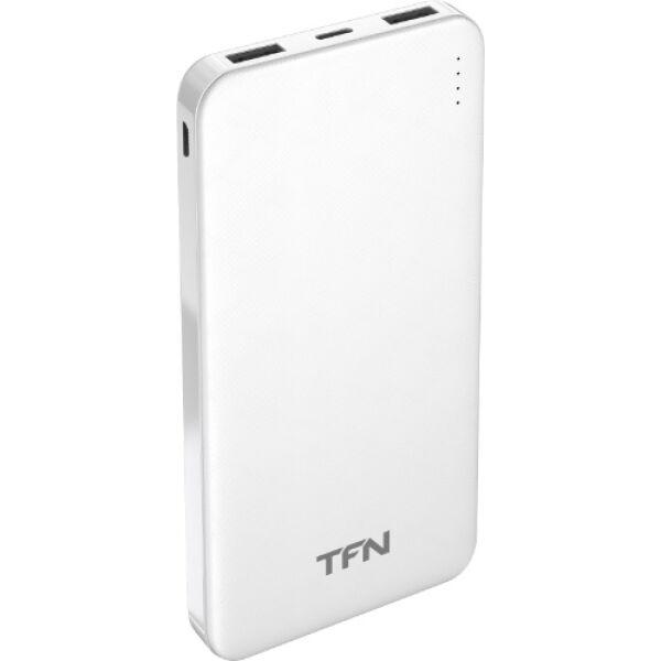 Портативное зарядное устройство TFN Slim Duo 10000 mAh (белый)