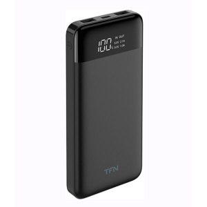 Портативное зарядное устройство TFN Slim Duo LCD 10000mAh (черный)