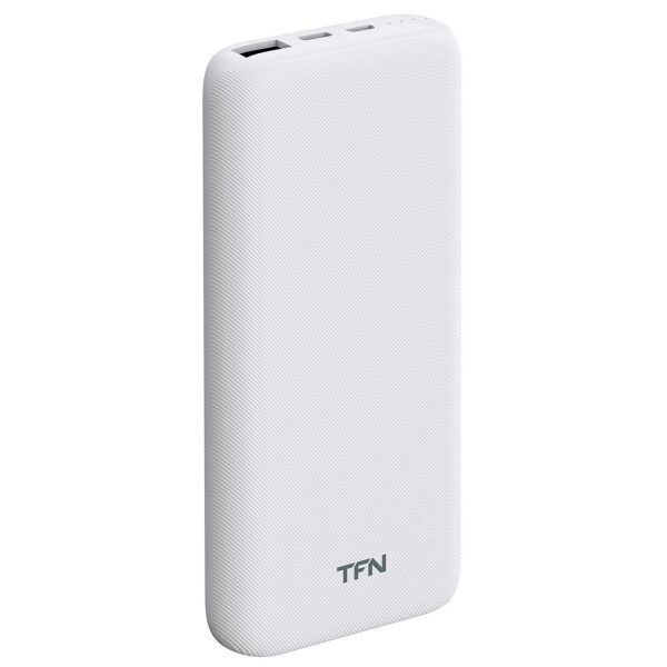Портативное зарядное устройство TFN Slim Duo PD 10000mAh (белый)