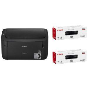 Принтер Canon i-SENSYS LBP6030 B (8468B042) + 2 катриджа Canon 725 (3484B002)