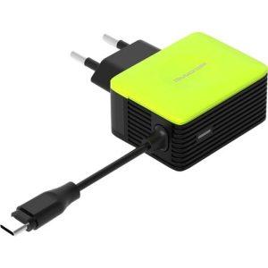 Сетевое зарядное Atomic U213M (черно-зелёный)