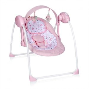 Шезлонг-качалка Lorelli Portofino (розовый)