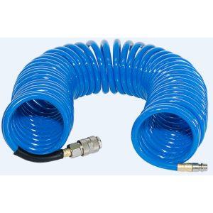 Шланг полиуретановый спиральный с фитингами FUBAG 6х10 10 м (170301)