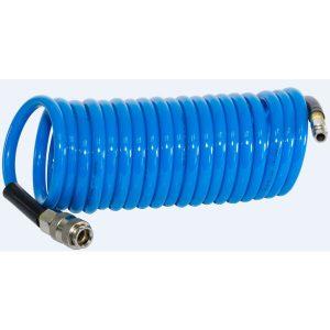 Шланг полиуретановый спиральный с фитингами FUBAG 6х10 5 м (170300)