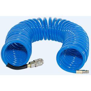 Шланг полиуретановый спиральный с фитингами FUBAG 8х12 10 м (170305)