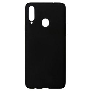 Силиконовая накладка Akami Soft-touch для Samsung Galaxy A20s Черный (9309)
