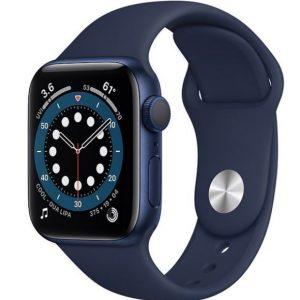 Смарт-часы APPLE Watch Series 6 Blue Aluminium Case with Deep Navy Sport Band 44mm (M00J3GK/A)