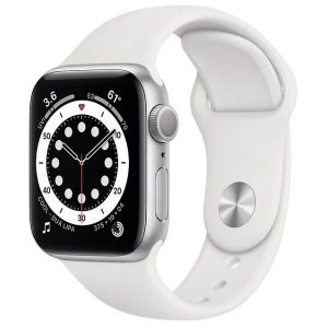 Смарт-часы APPLE Watch Series 6 Silver Aluminium Case with White Sport Band 40mm (MG283UL/A)