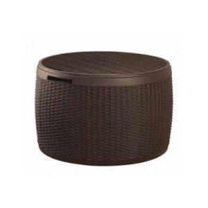 Стол-сундук Keter Circa Rattan Box (коричневый)