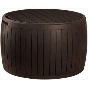 Стол-сундук Keter Circa Wood Box (коричневый)