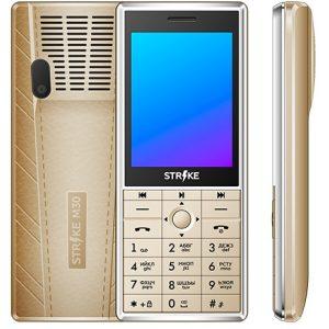 Телефон GSM STRIKE M30 (золотистый)