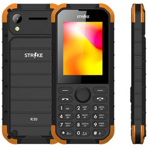 Телефон GSM STRIKE R30 (черный-оранжевый)