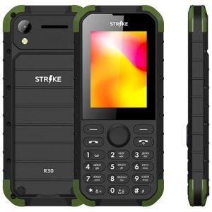 Телефон GSM STRIKE R30 (черный-зеленый)