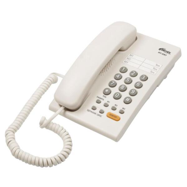 Телефонный аппарат Ritmix RT-330 (белый)