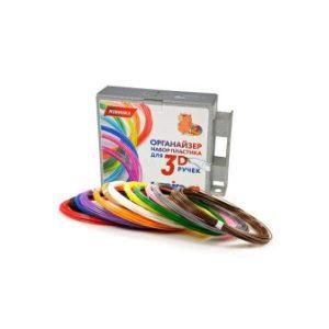 UNID Набор-органайзер с пластиком для 3D ручек: ABS12 (по 10м. 12 цветов в коробке)