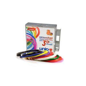 UNID Набор-органайзер с пластиком для 3D ручек: ABS9 (по 10м. 9 цветов в коробке)