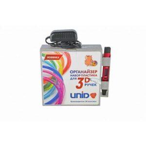 UNID Набор-органайзер с пластиком для 3D ручек: PLA-12 (по 10м. 12 цветов)
