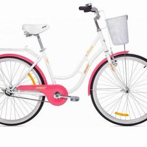 Велосипед AIST Avenue 26 2021 (бело-розовый)