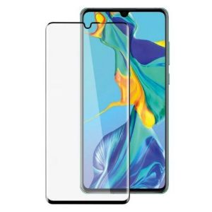 Защитное стекло CASE 3D для Huawei P30 (черный глянец)