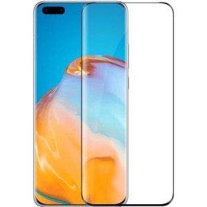 Защитное стекло CASE 3D для Huawei P40 Pro (черный глянец)
