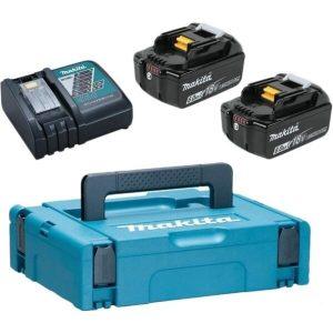 Аккумулятор с зарядным устройством Makita DC18RС + BL1860B (18В/6.0 Ah + 18В)