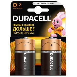Батарейка DURACELL LR20/MN1300 2 шт
