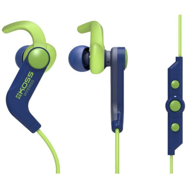 Беспроводные наушники KOSS BT190i (синий/зеленый)
