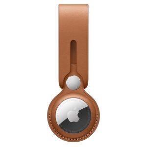 Брелок-подвеска для Apple AirTag Leather Loop Saddle Brown (MX4A2ZM/A)