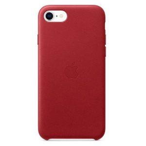 Чехол Apple Leather Case для iPhone SE (красный) MXYL2ZM/A