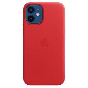 Чехол Apple MagSafe Leather Case для iPhone 12 mini (красный) MHK73ZE/A