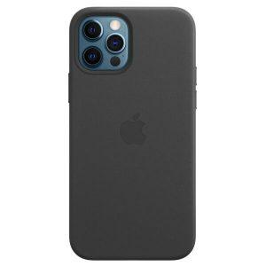 Чехол Apple MagSafe Leather Case для iPhone 12 Pro Max (черный) MHKM3ZE/A