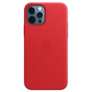 Чехол Apple MagSafe Leather Case для iPhone 12 Pro Max (красный) MHKJ3ZM/A