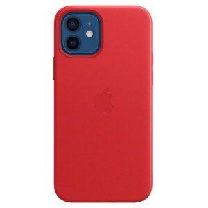 Чехол Apple MagSafe Leather Case для iPhone 12/12 Pro (красный) MHKD3ZE/A
