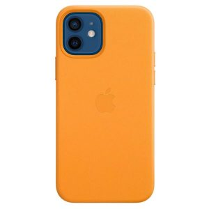 Чехол Apple MagSafe Leather Case для iPhone 12/12 Pro (золотой апельсин) MHKC3ZE/A