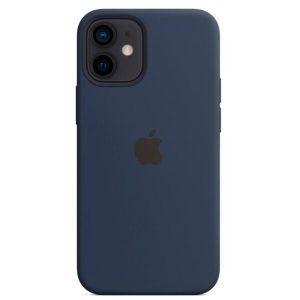 Чехол Apple MagSafe Silicone Case для iPhone 12 mini (темный ультрамарин) MHKU3ZM/A