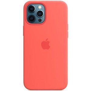 Чехол Apple MagSafe Silicone Case для iPhone 12 Pro Max (розовый цитрус) MHL93ZE/A