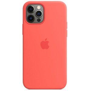 Чехол Apple MagSafe Silicone Case для iPhone 12/12 Pro (розовый цитрус) MHL03ZE/A