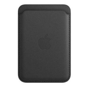 Чехол-бумажник Apple Leather Wallet MagSafe MHLR3ZE/A (черный)