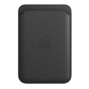 Чехол-бумажник Apple Leather Wallet MagSafe MHLR3ZM/A (черный)