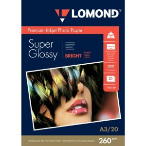 Фотобумага Lomond Суперглянцевая А3 260 г/кв.м. 20 листов (1103130)