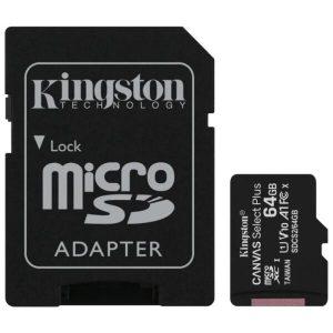 Карта памяти Kingston Canvas Select Plus microSDXC 64Gb (SDCS2/64GB)