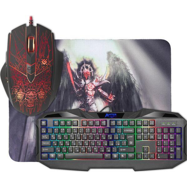 Клавиатура + мышь с ковриком Defender Anger MKP-019