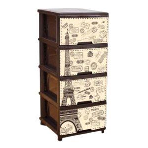 Комод Алеана с декором Париж 123093 (коричневый)