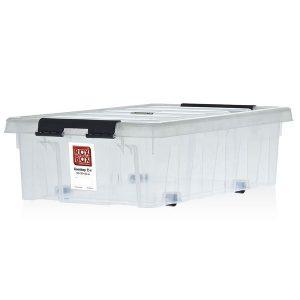 Контейнер на роликах универсальный с крышкой ROX BOX  35 л прозрачный