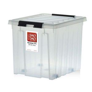 Контейнер на роликах универсальный с крышкой ROX BOX  50 л прозрачный