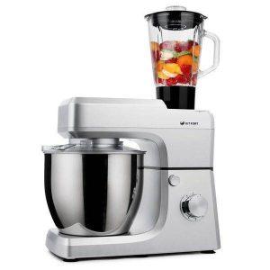 Кухонная машина KITFORT КТ-1339-1 (серебристый металлик)