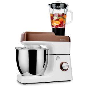 Кухонная машина KITFORT КТ-1339-2 (бело-коричневый)