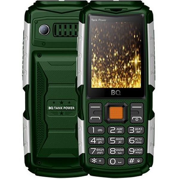 Мобильный телефон BQ-Mobile BQ-2430 Tank Power (зеленый/серебро)