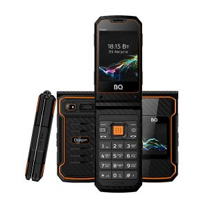 Мобильный телефон BQ-Mobile BQ-2822 Dragon (черный/оранжевый)