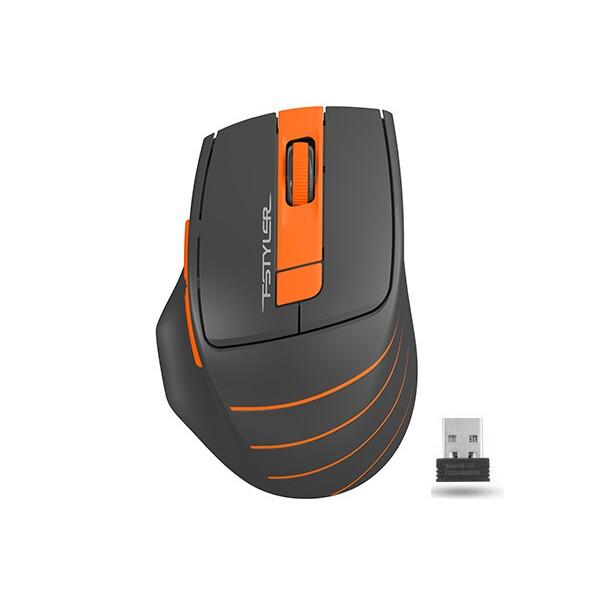 Мышь A4Tech Fstyler FG30 (черный/оранжевый)